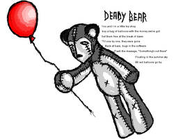 Deady Bear with a Red Balloon