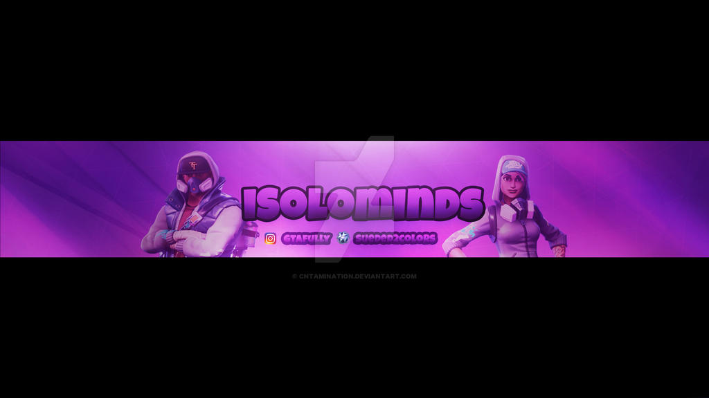 Fortnite Youtube Banner By Cntamination On Deviantart