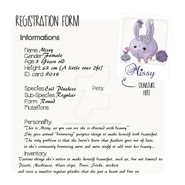 Missy's Info by SoulsofTheDoomed