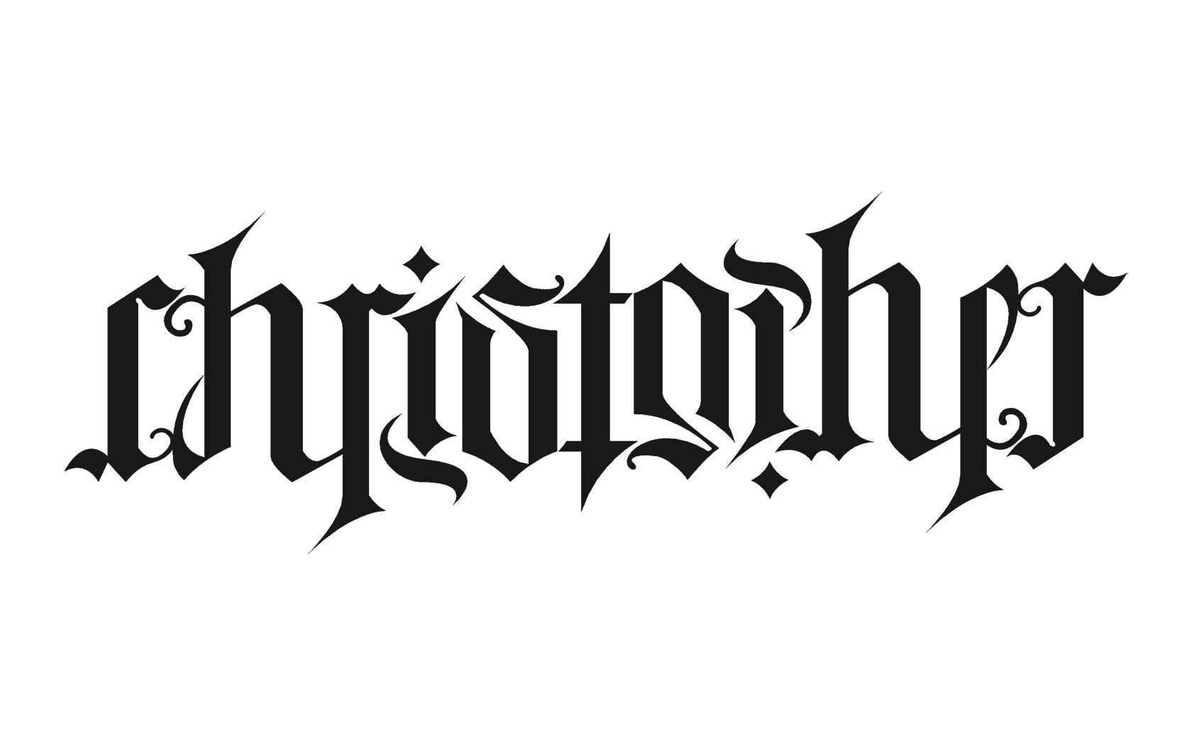 Christopher Ambigram by ChrisR1982Edin on DeviantArt
