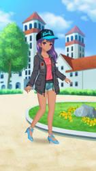 PrettyXTheXArtist (Anime Girl) by PrettyMelodyRhythm