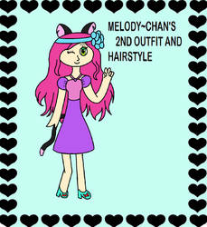 Melody~Chan's 2nd Outfit and Hairstyle (Remake) by PrettyMelodyRhythm