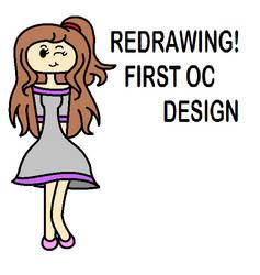 Redrawing! First OC Design (Digital Version) by PrettyMelodyRhythm