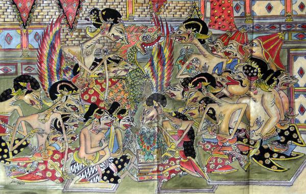 lukisan wayang beber by wayangbeber