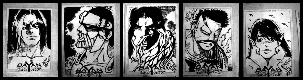 Bayan Knights Sketch Cards by RapidBlade