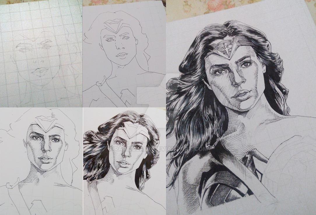 WIP Wonder Woman fanart by RapidBlade
