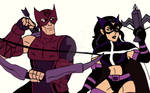 Marvel/DC: the Hawkeye and the Huntress