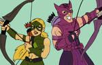 Marvel/DC: Artemis and Hawkeye