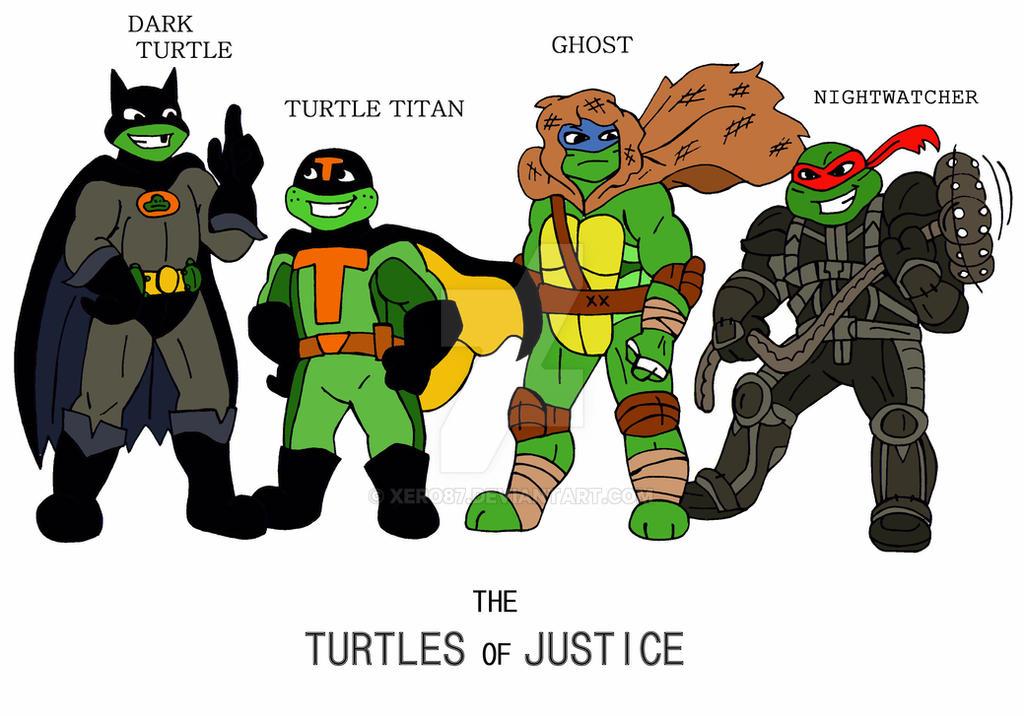 TMNT: SUPER heros in a Half Shell by xero87