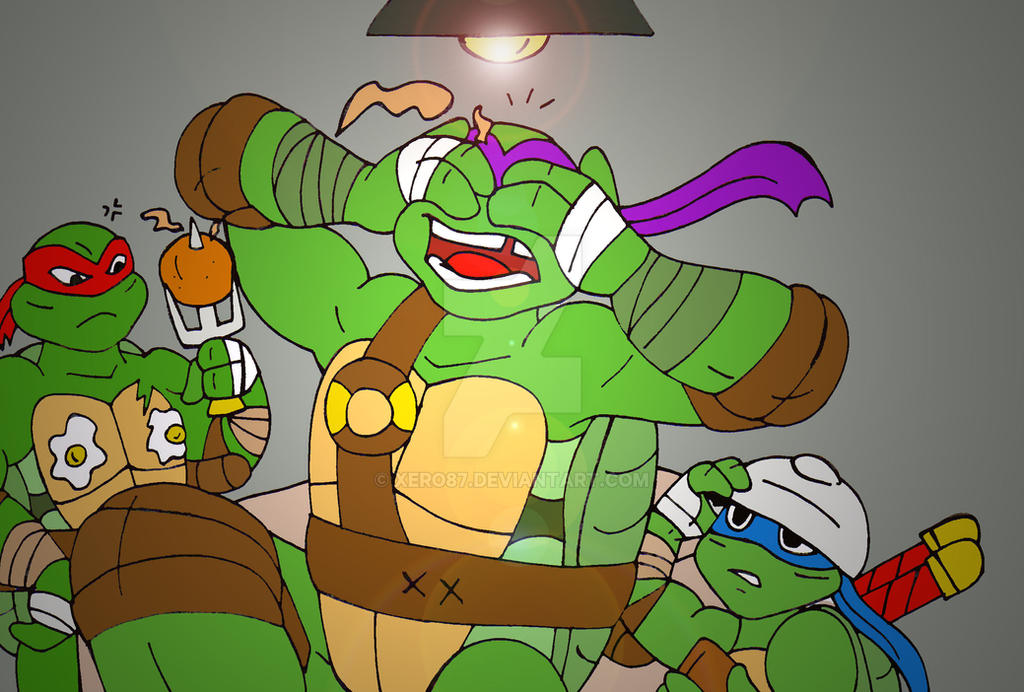 TMNT: When the Turtles make breakfast by xero87