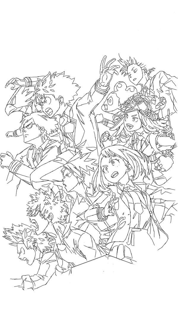 Boku No Hero Coloring Page by MALCOLMSHAW on DeviantArt