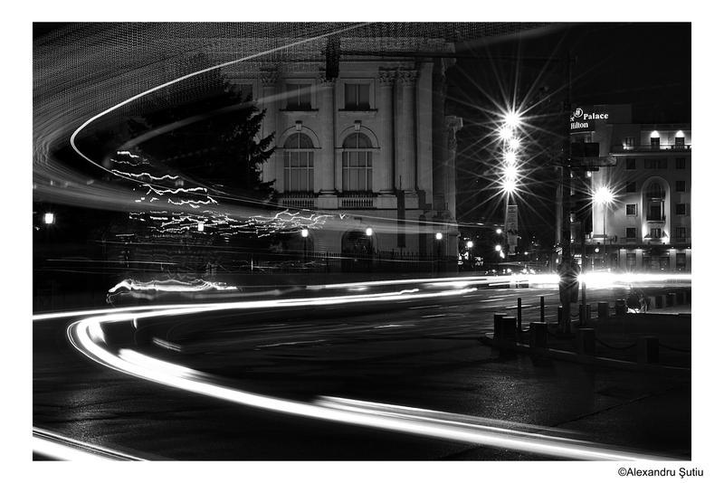 city lights black and white - photo #11