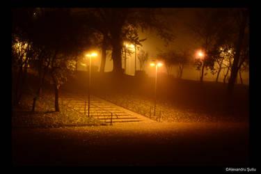 Lighted Stairs by RavenNightWish