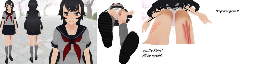 My first skin for Yandere Simulator by xJuiiix