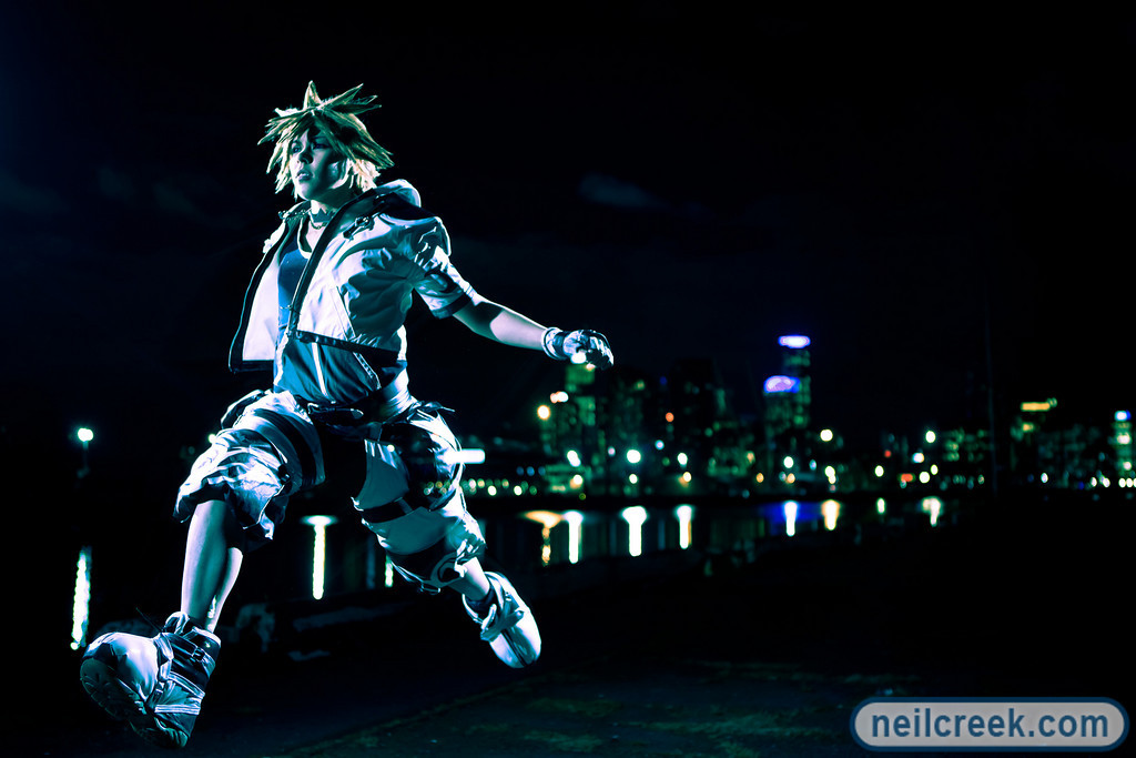 Leaping Sora by neilcreek