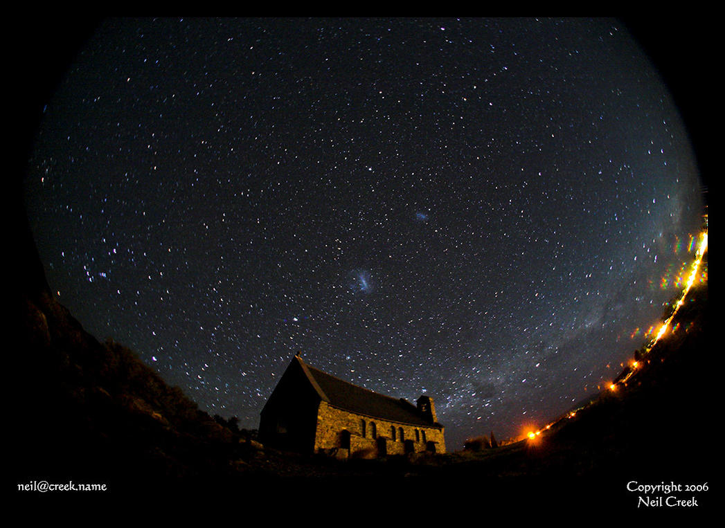 Church under stars by neilcreek