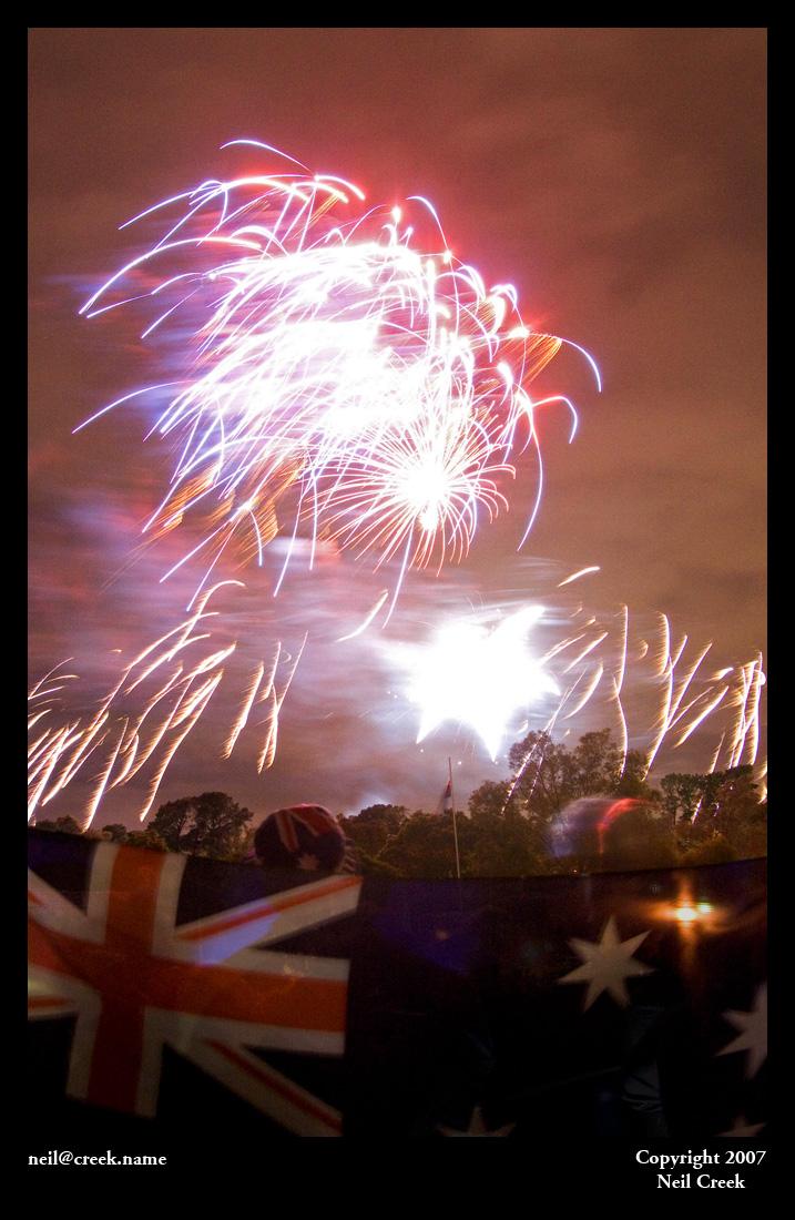Australia Day fireworks by neilcreek