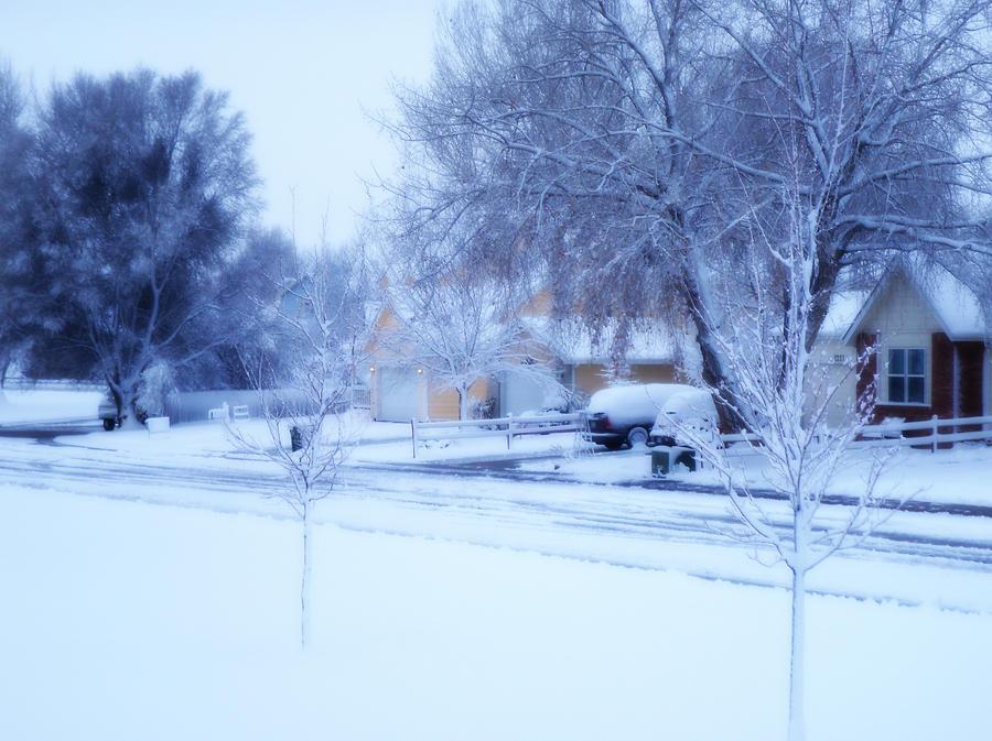 snowy neighborhood by CillaSun on DeviantArt