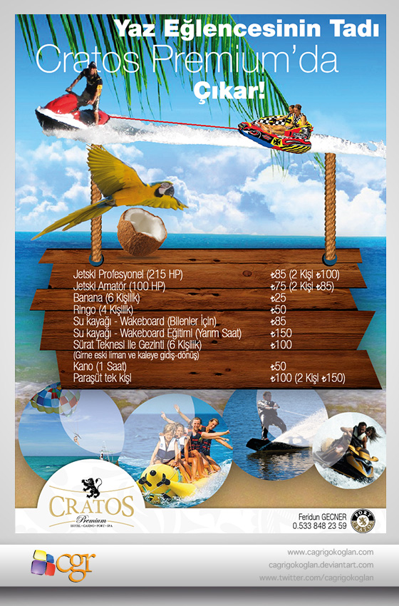 Cratos Premium Hotel, Water Sports Flyer by CagriGokoglan on DeviantArt