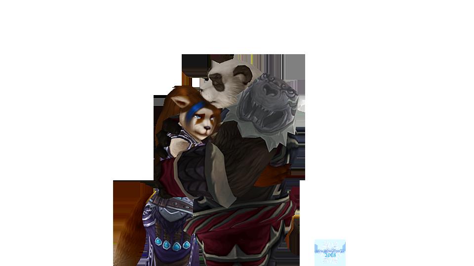 Atsuko and Taran hugging by MewMewFrostElf