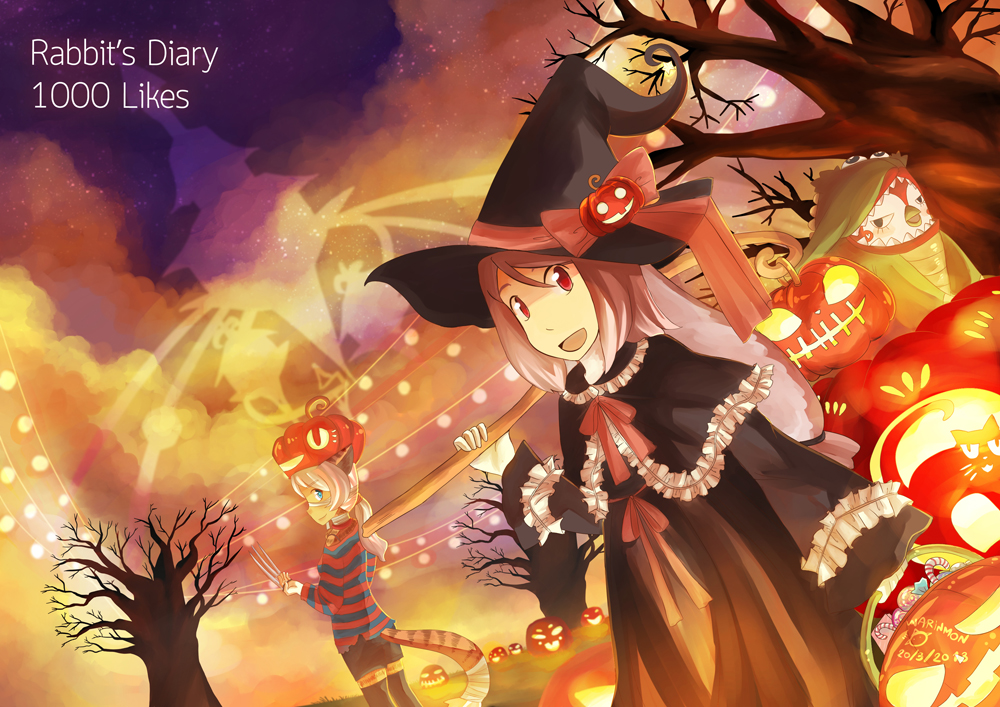 Halloween and thanks for 1000 likes by warinmon