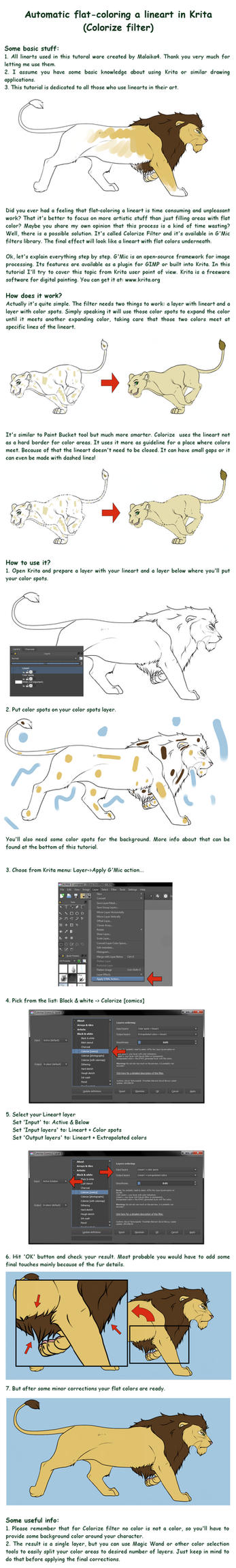 Automatic flat-coloring in Krita by Rastaban26