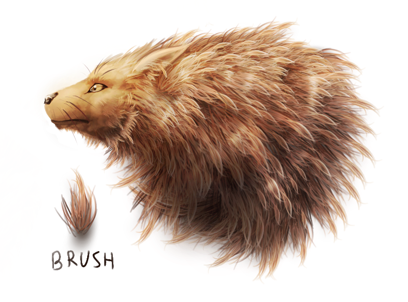 Fluff brush test by Rastaban26