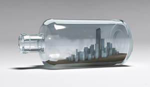 city in the bottle
