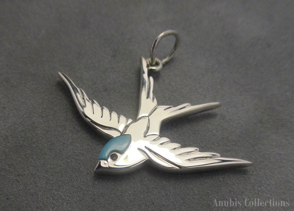 Sparrow pendant by anubiscollections