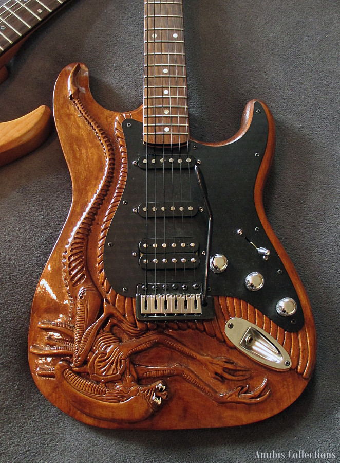 Alien guitar by anubiscollections