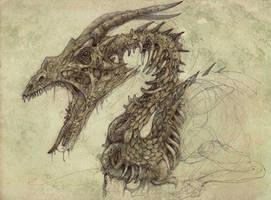 Zombie Dragon by Pintoro