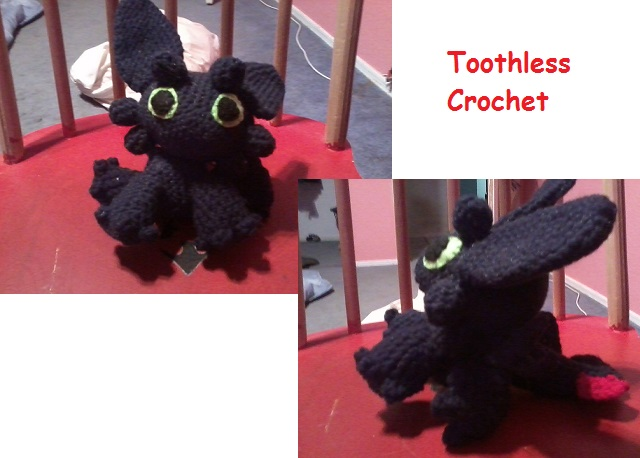 Crochet Toothless by lhug-lor