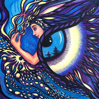 Owl Reflections by dalifan-teresa