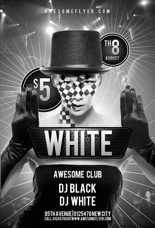 Free Black And White Club Flyer Template By Awesomeflyer On Deviantart