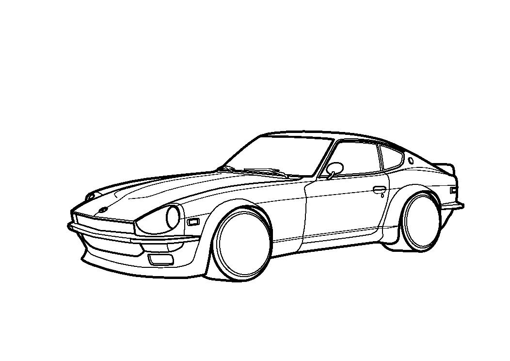 Line Drawing Nissan Gtr : Nissan datsun s by xychoi on deviantart