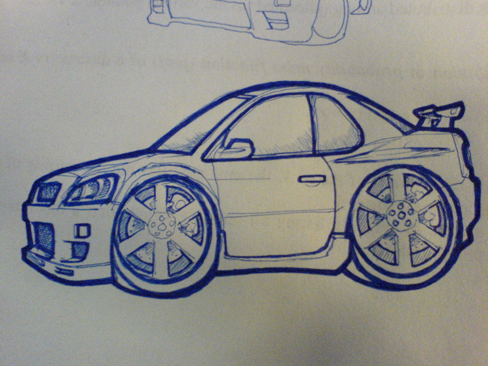 Skyline r34 gtr drawing by s3xychoi traditional art drawings technical