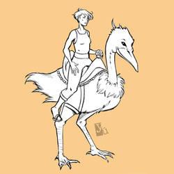 Rider sketch by Yuett
