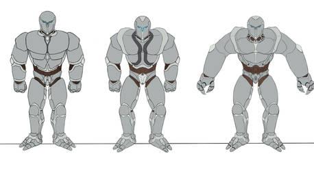 Eberron : Prototypes of Warforged by Firior