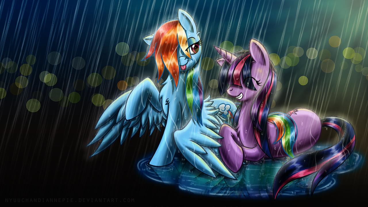 TwiDash in the rain by NyuuChanDiannePie