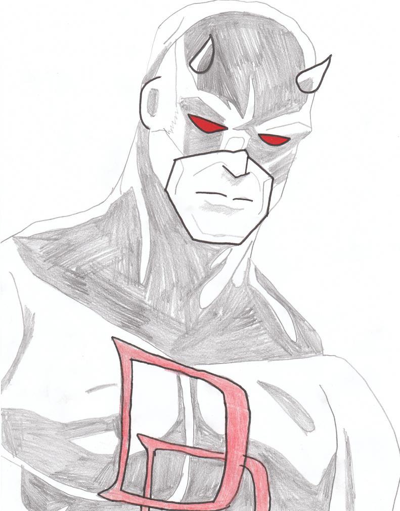 Daredevil Drawing by lucafon on deviantART: lucafon.deviantart.com/art/daredevil-drawing-198554756