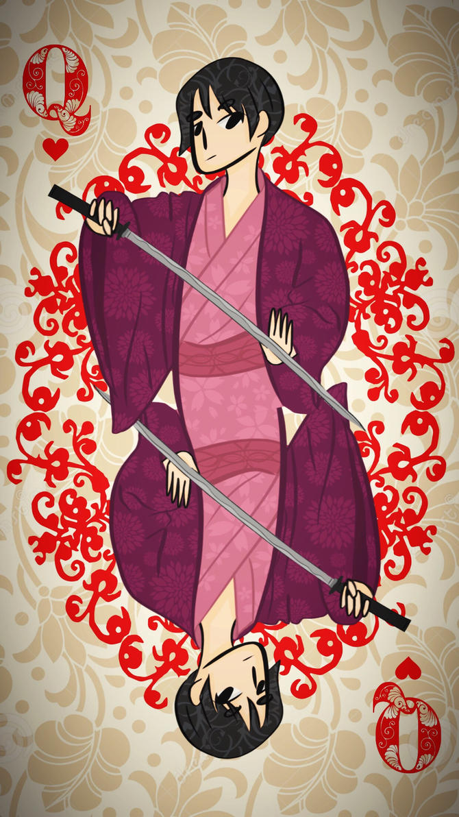 Hetalia: Queen of Hearts Cardverse Japan  by lunaetetoile