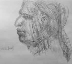 Study for Ged's face 1