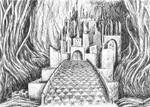 Gralsburg (Castle of the Holy Grail) - ink