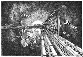 Colliding Spacecraft by Starsong-Studio