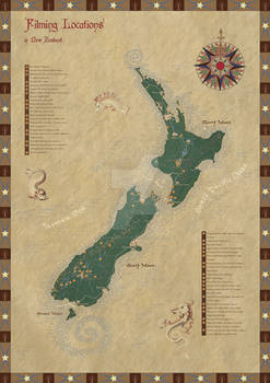 New Zealand filming locations map