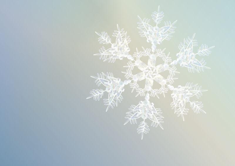 Snowflake - Xmas card design