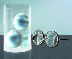 Illustration Friday: Eyeglasses by Starsong-Studio