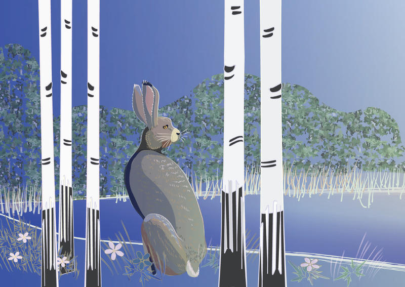 Easter Card: Spring Hare