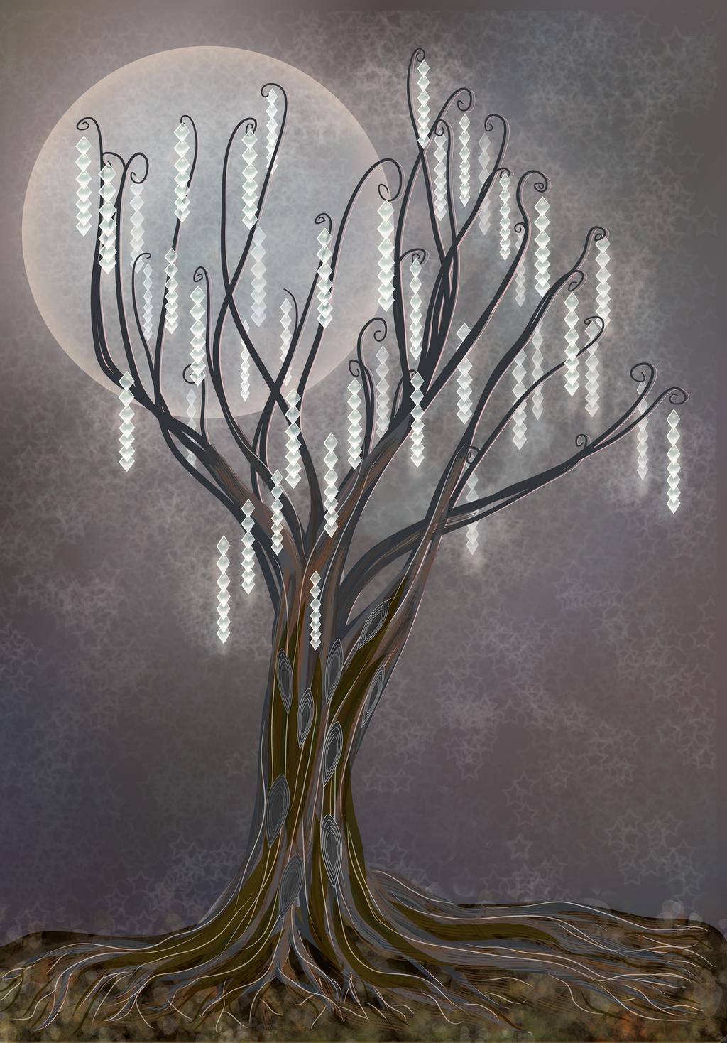 Tree of Light Christmas card design