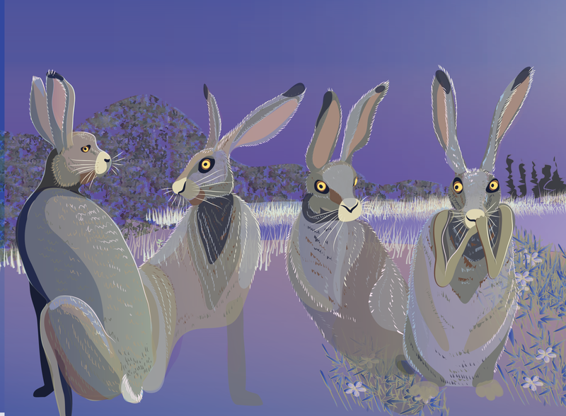 Hares WIP2 by Starsong-Studio